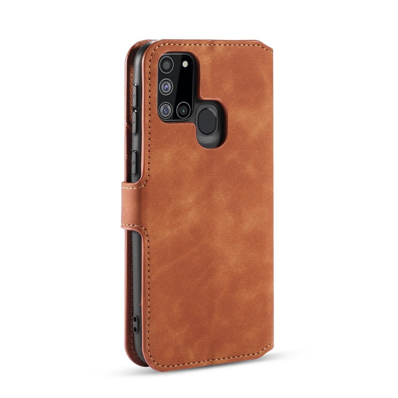DG.MING PU Leather Wallet Samsung A21s Case