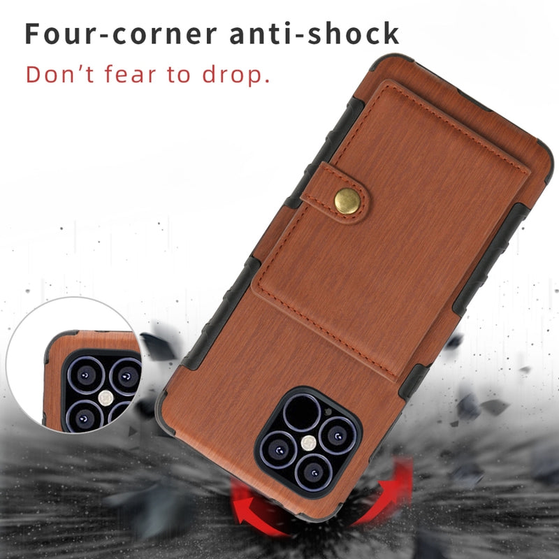 Brushed Texture Shockproof PU + TPU iPhone 12 Mini Case