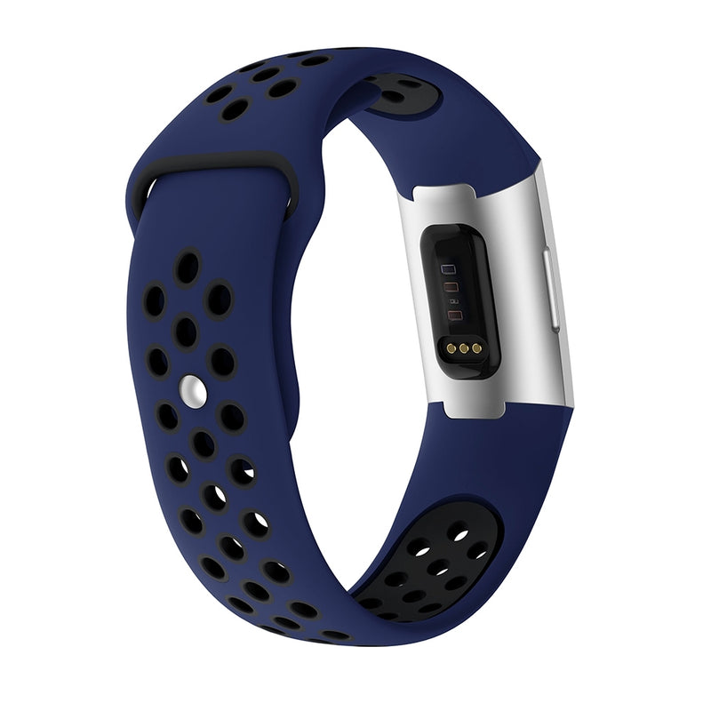Two-color Silicone Wrist Strap for Fitbit Charge 3
