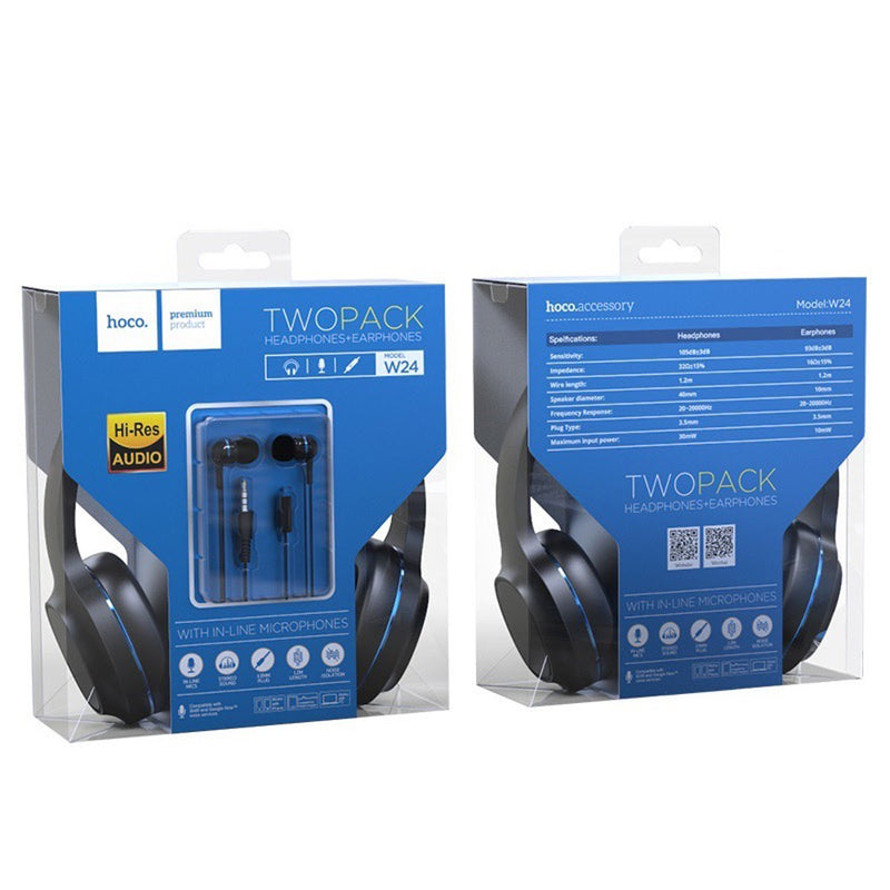 HOCO wired Headphones with Mic
