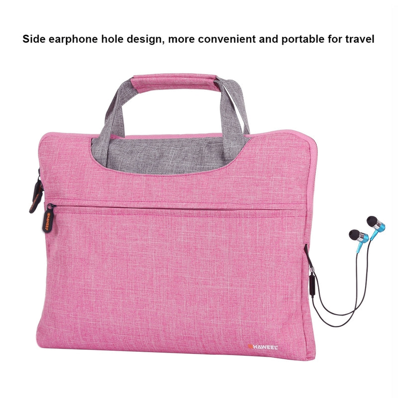 13.3-inch Zipper Handheld Laptop Bag - Pink