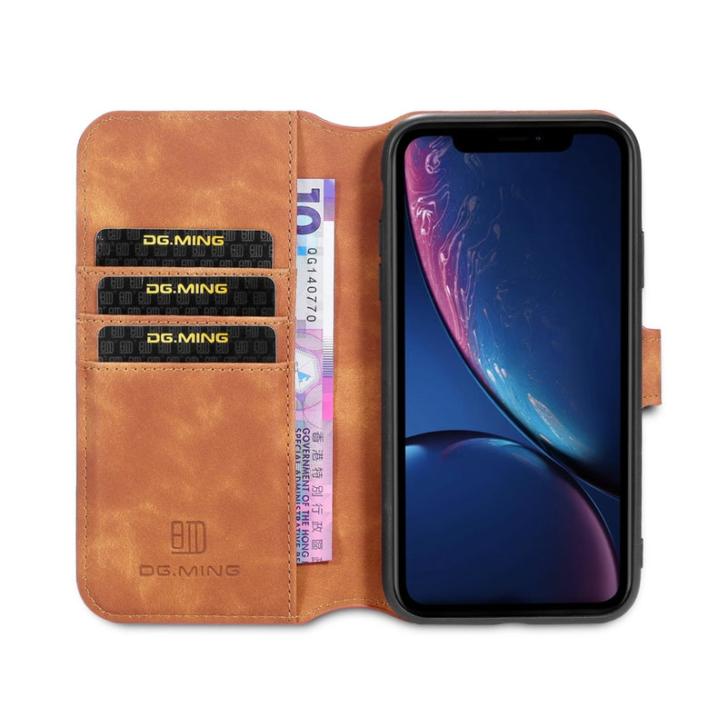 DG.MING PU Leather case for iPhone 11 - Brown