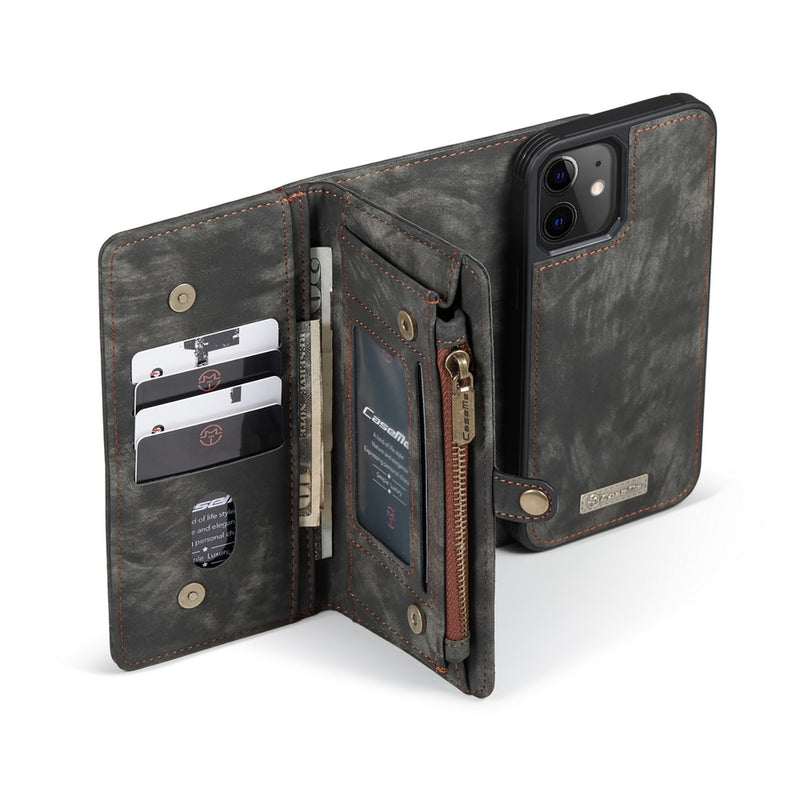 CASEME Split Leather Multi-slot Wallet iPhone 12 Mini Case