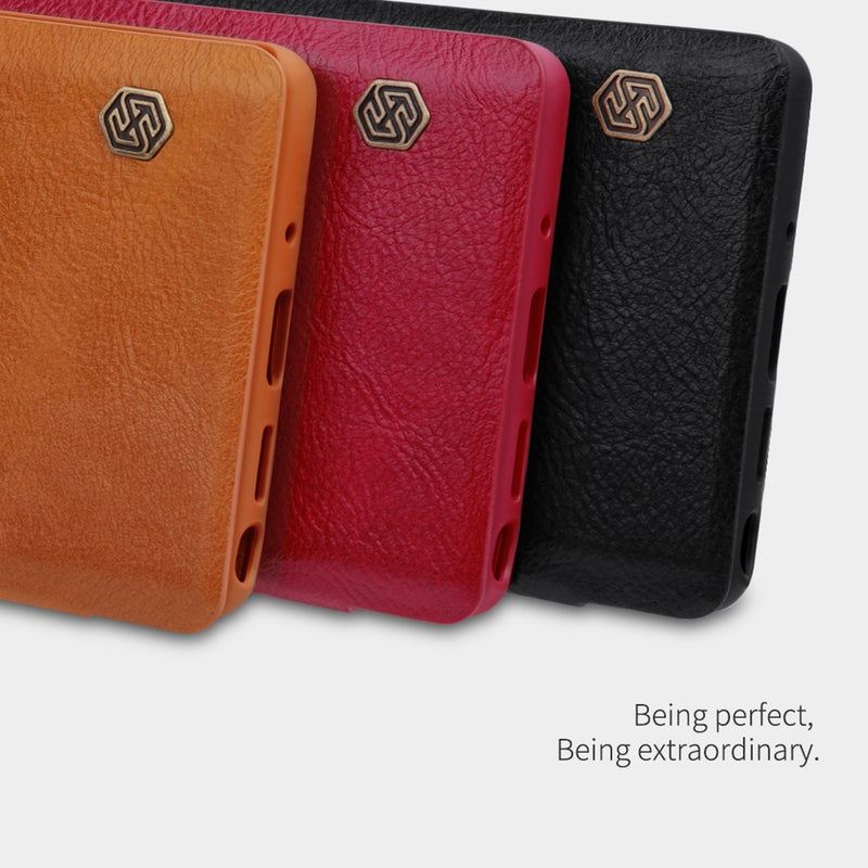 NILLKIN QIN Series Crazy Horse Texture PU Leather Case for Samsung Note 20 Ultra