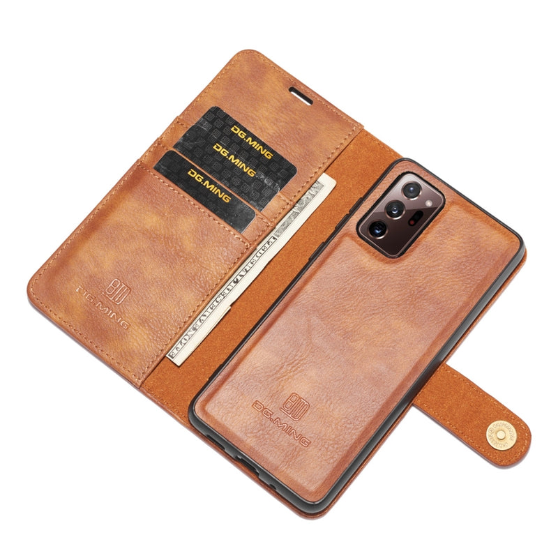 DG.MING Detachable 2-in-1 Split Leather Flip Case for Samsung Note 20 Ultra