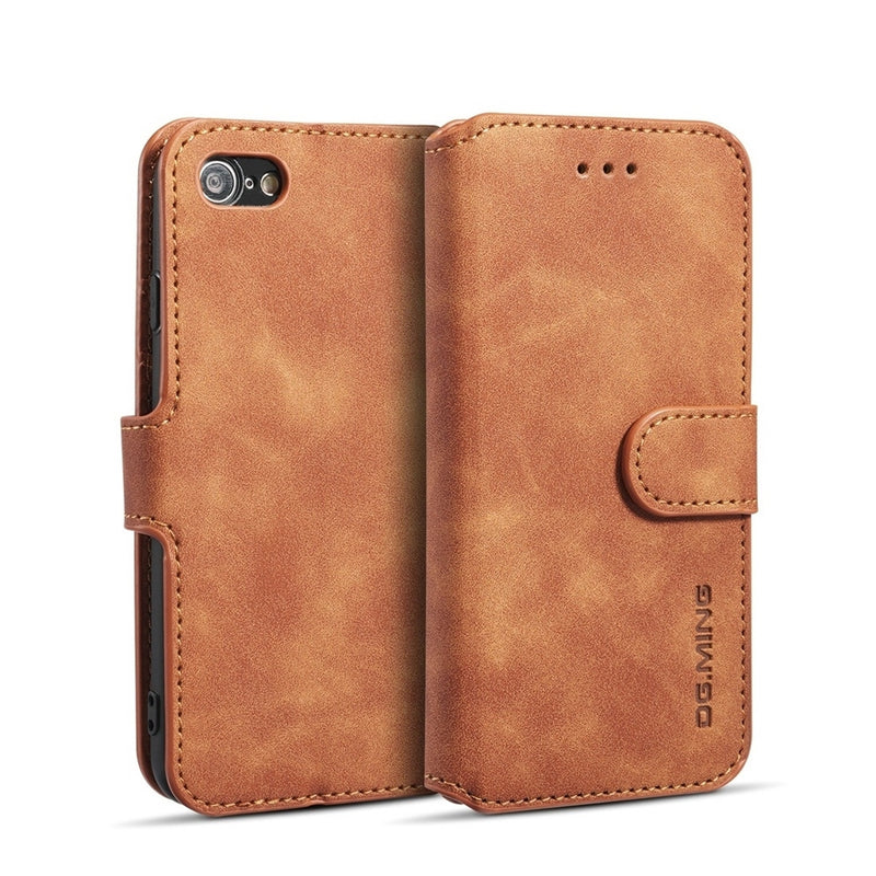 DG.MING PU Leather Case for iPhone SE 2020/iPhone 8/7