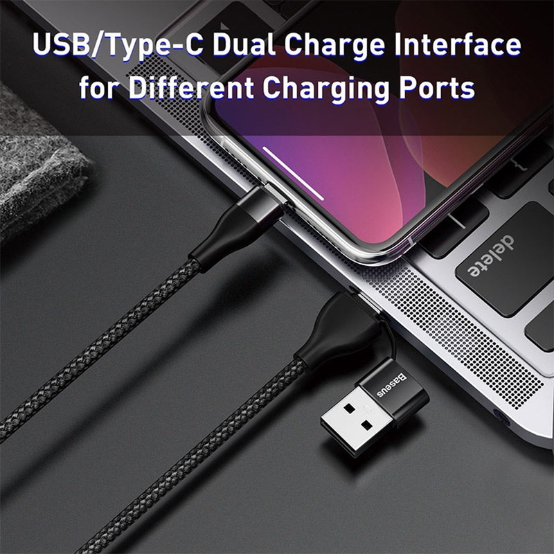Baseus 18W 2 in 1 Data Sync Charging Lightning Cable