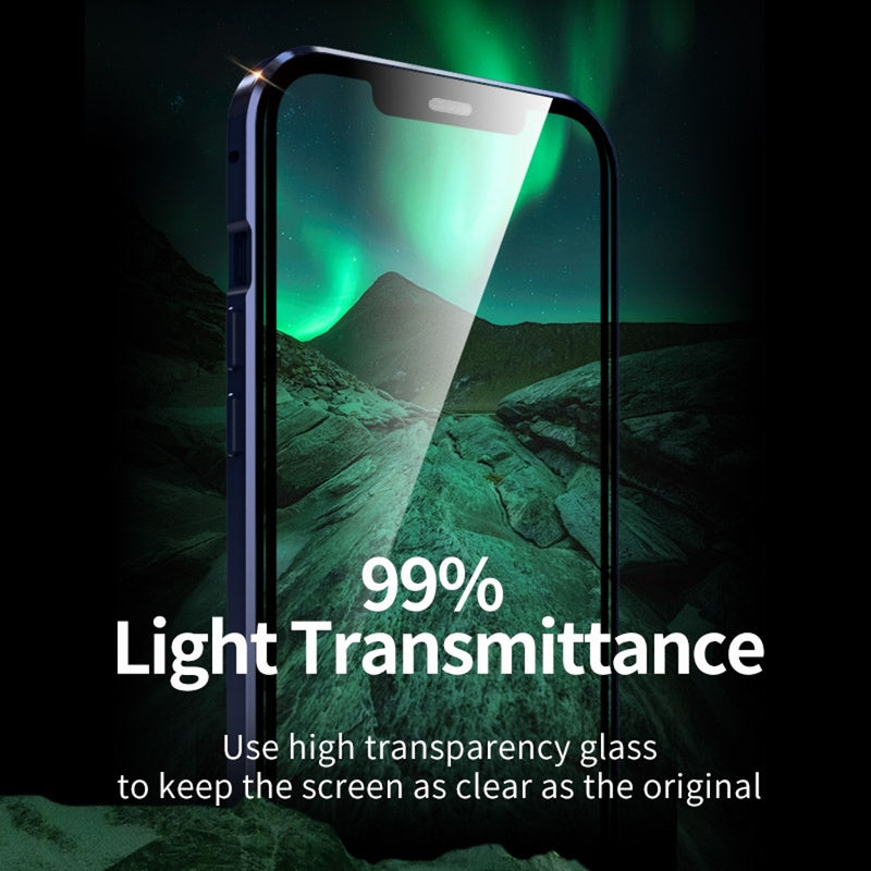 Double Sides Tempered Glass Magnetic Adsorption iPhone Mini Case CellMart