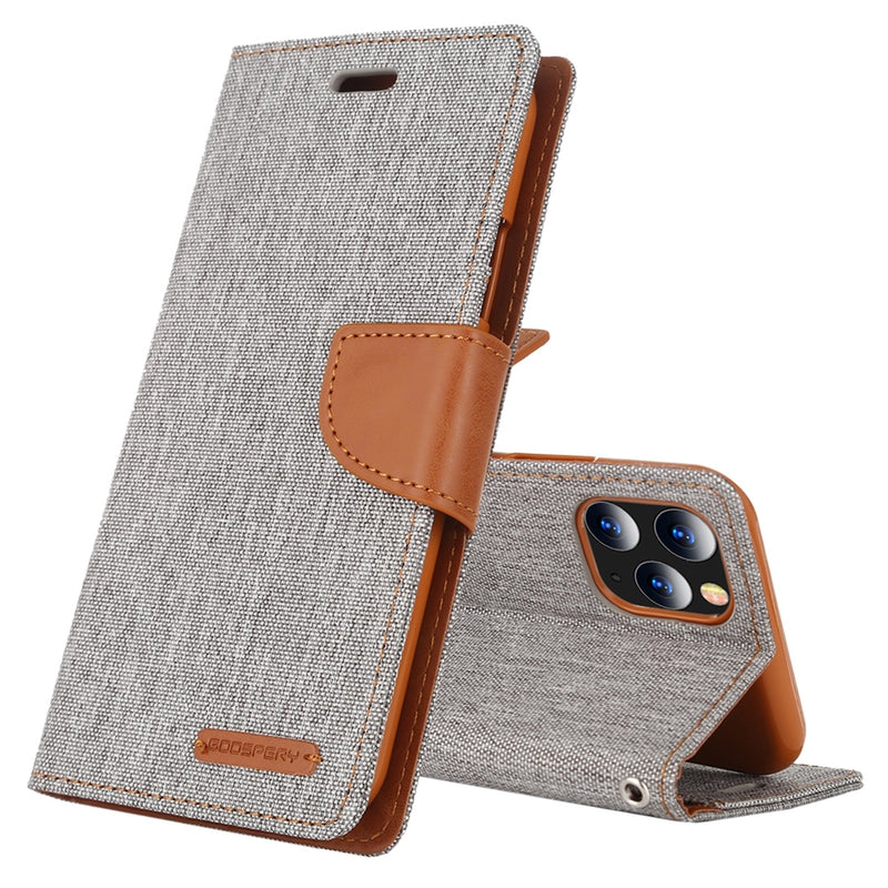 Mercury Canvas PU Leather Case for iPhone 11 Pro Max