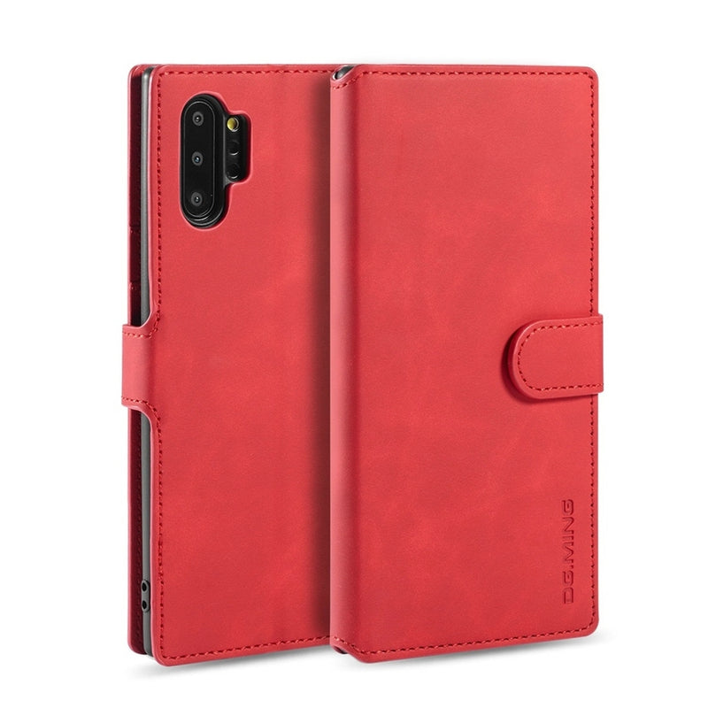 DG.MING Flip PU leather Case for Samsung Note 10 Plus - Red