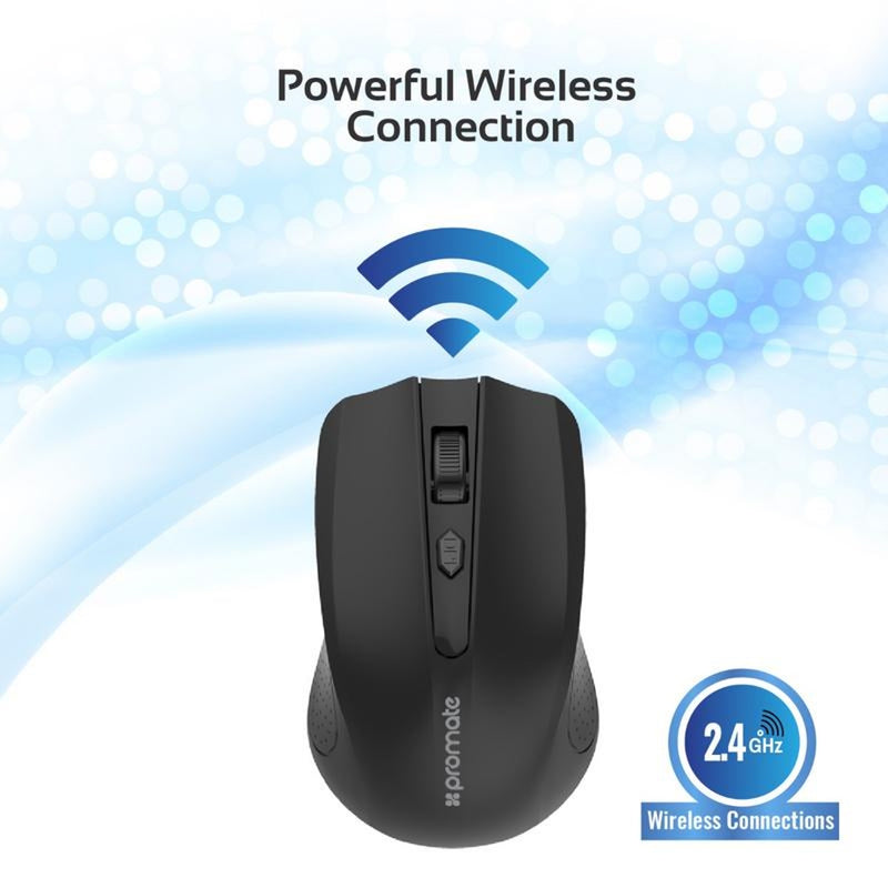 PROMATE Ergonomic Wireless Mouse 2.4GHz