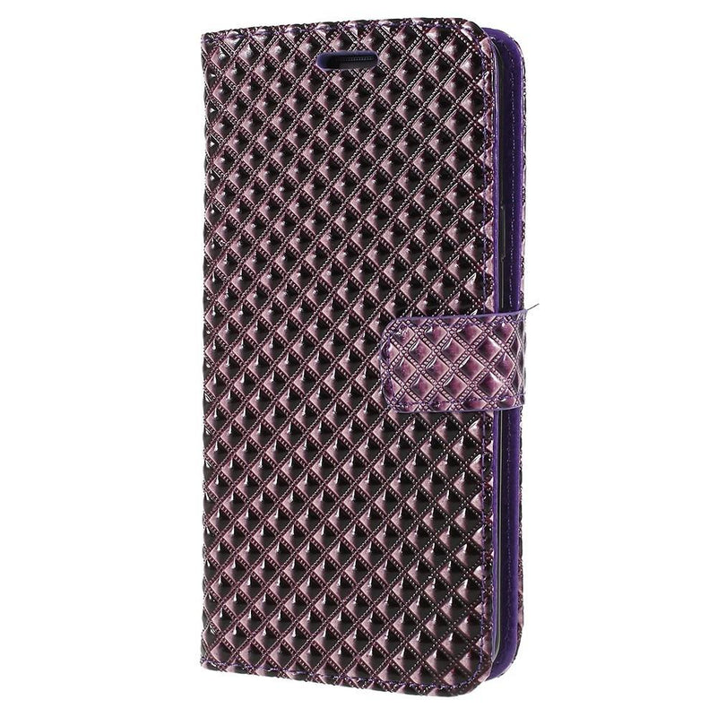 Rhombus Texture PU Leather Case for Samsung S9 Plus
