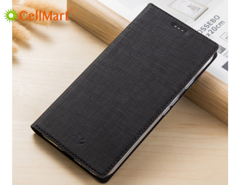 VILI DMX Cross Texture PU Leather Case for iPhone X/XS