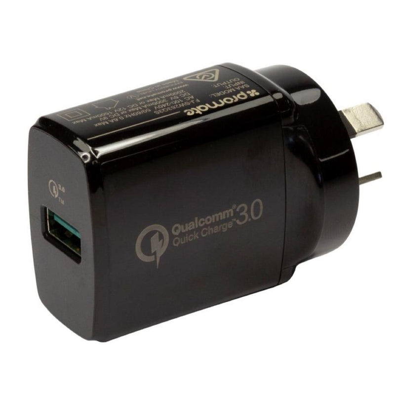 PROMATE 3A 18W QC3.0 Quick Charging Wall Charger