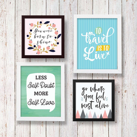 Set of 4 Art Frames - Good Vibes