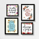 Set of 9 Art Frames - Happy Home Quotes
