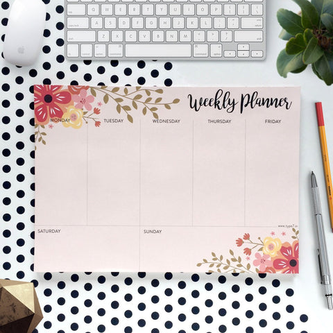 Weekly Desk Planner-Type7