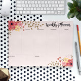 Set of 2 Weekly Planners - Floral & What's Cooking