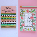Set of 2 Notebooks - Follow Your Dreams & Be Silly