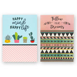Notebook by Type7, Journal, Write, Doodle, Draw in Designer Notebooks with Floral, Quirky Prints