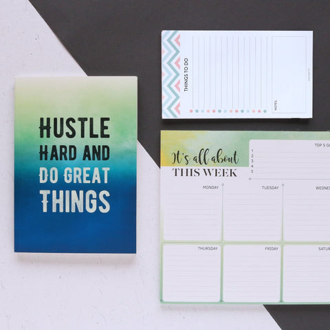 Hustle Hard - Stationery Collection