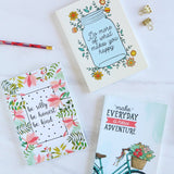 Set of 3 Notebooks - Be Silly, Adventure & Do More Of