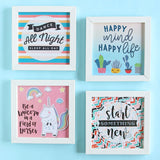 Set of 4 Art Frames - Happy Mind