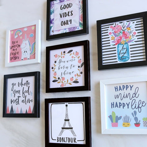 Set of 7 Art Frames - Liven Up Your Space