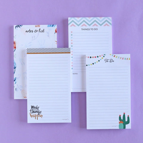 Set of 4 Notepads - All Design