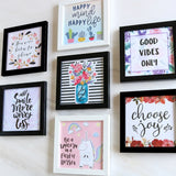 Set of 7 Art Frames - Happiness