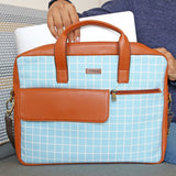 Checks - Laptop Messenger Bag