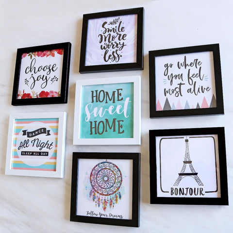 Set of 7 Art Frames - Home Make Over