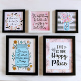 Set of 5 Art Frames - Best Thing In Life