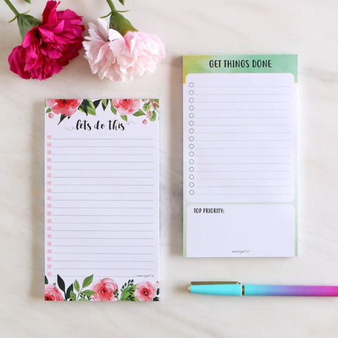 Set of 2 Notepads - Let's Do This & Get Things Done