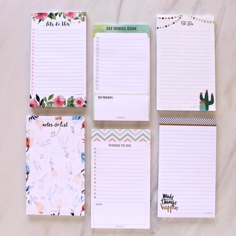Set of 6 Notepads