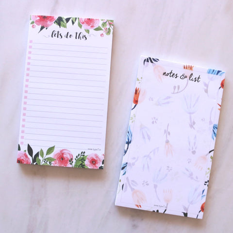 Set of 2 Notepads - Notes & List & Let's Do This