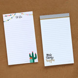 Set of 2 Notepads - Cactus To Do & Make Things Happen