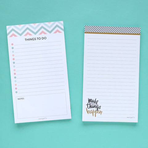 Set of 2 Notepads - Things To Do & Make Things Happen