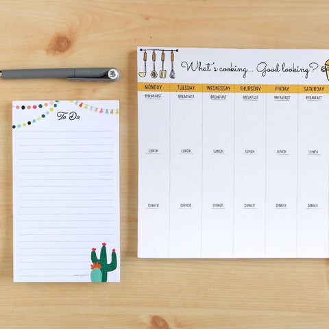 Meal Planner - Stationery Set