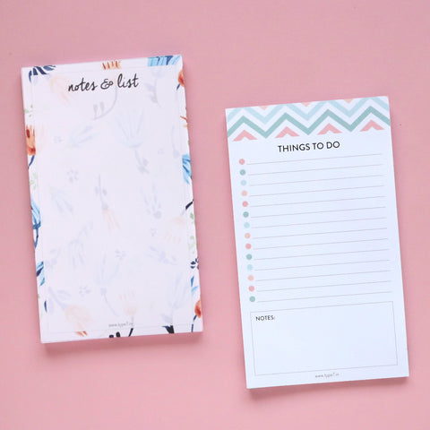 Set of 2 Notepads - Notes & List & Things To Do