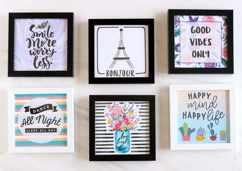 Set of 6 Art Frames - Pretty Corner