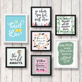Set of 7 Art Frames - Positive Corner