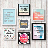 Set of 7 Art Frames - Stay Motivated