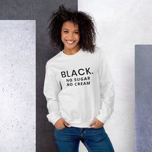 BLACK unisex Sweatshirt - Smiling Curls
