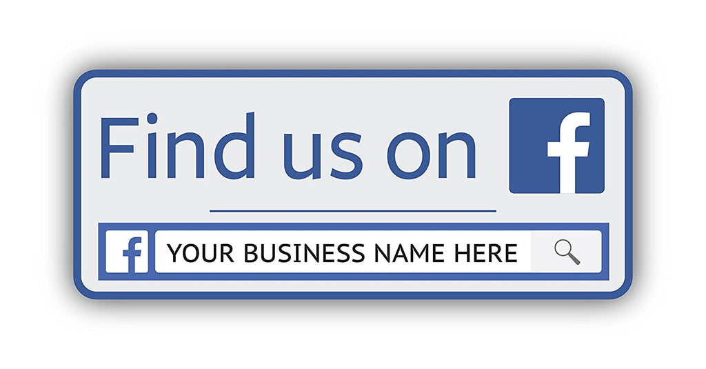 14x personalised facebook business page advertising vinyl stickers