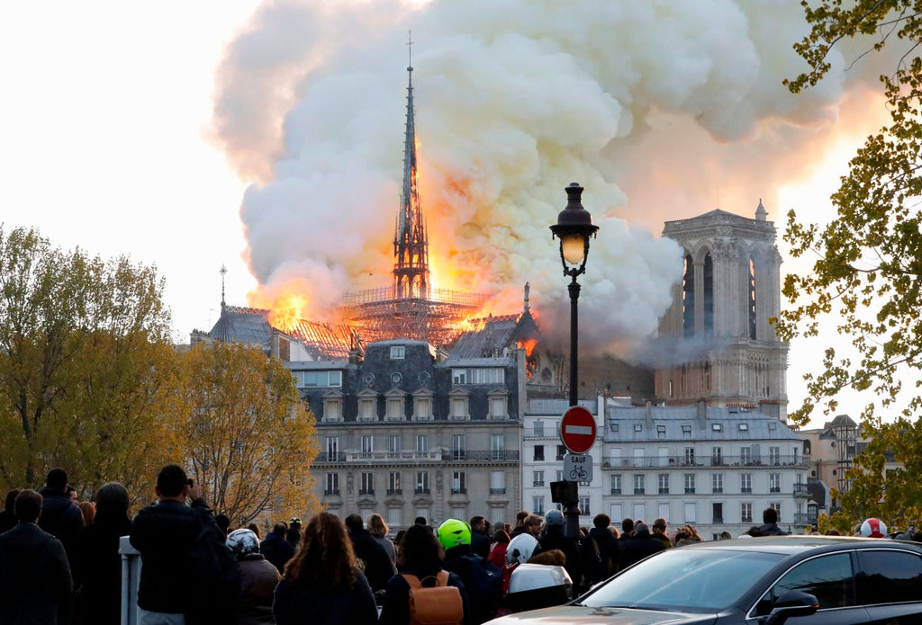 Roof collapses at Paris' Notre Dame Cathedral as massive fire rages