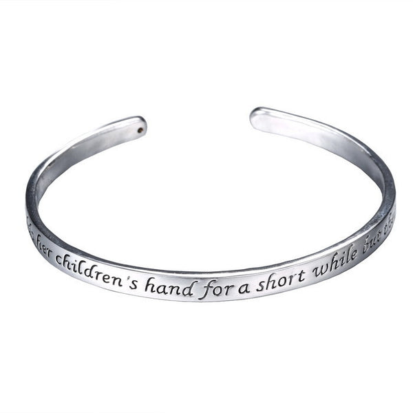 A Mother Holds Her Children's Hand for a Short While but Their Hearts Forever Bracelet