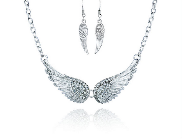 Angel Wings Choker Necklaces and Earrings
