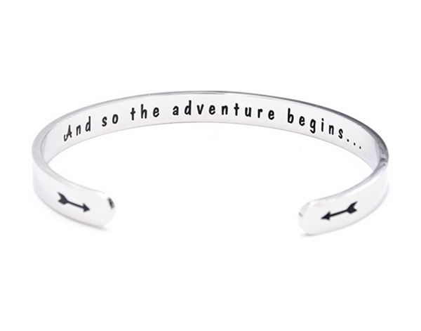 And So the Adventure Begins Cuff Bracelet