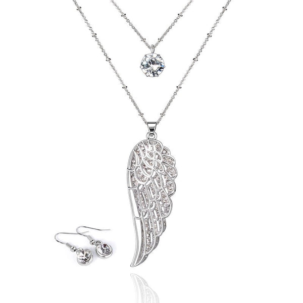 Two-layer Long Angel Wings Necklaces